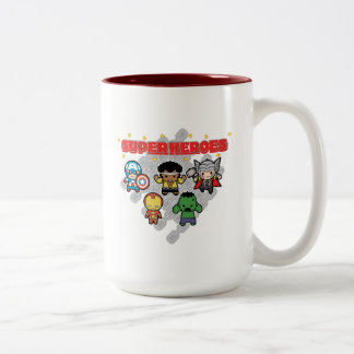 Kawaii Marvel Super Heroes Two-Tone Coffee Mug