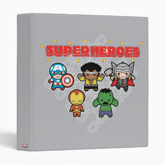 Kawaii Marvel Super Heroes Vinyl Binder