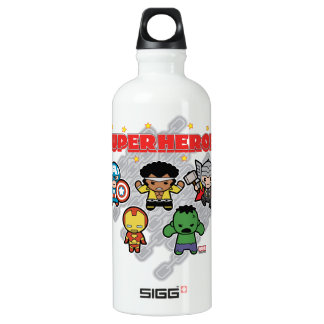 Kawaii Marvel Super Heroes Water Bottle