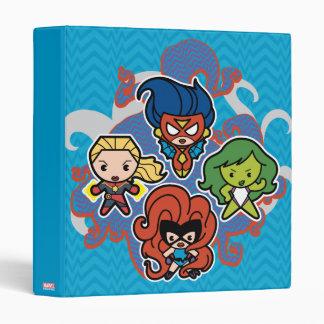Kawaii Marvel Super Heroines 3 Ring Binder