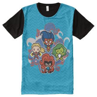 Kawaii Marvel Super Heroines All-Over-Print T-Shirt