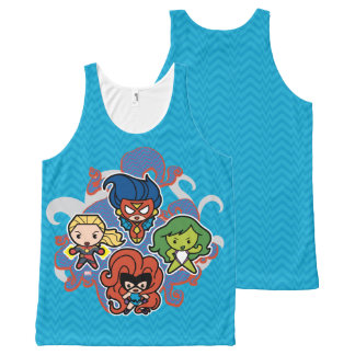 Kawaii Marvel Super Heroines All-Over-Print Tank Top
