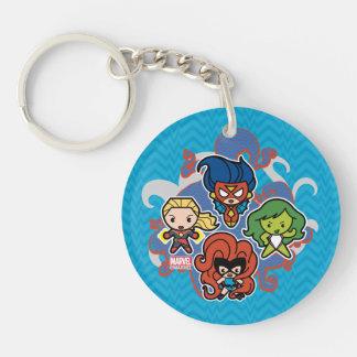 Kawaii Marvel Super Heroines Keychain