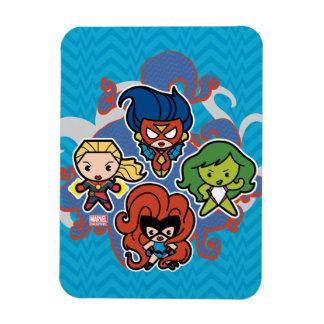 Kawaii Marvel Super Heroines Magnet