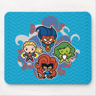 Kawaii Marvel Super Heroines Mouse Pad