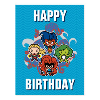 Kawaii Marvel Super Heroines Postcard