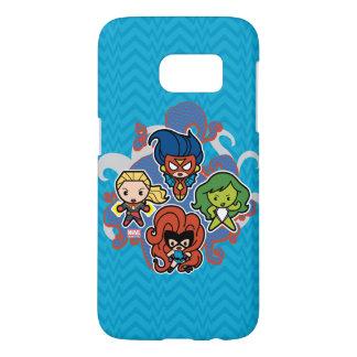 Kawaii Marvel Super Heroines Samsung Galaxy S7 Case