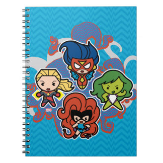 Kawaii Marvel Super Heroines Spiral Notebook