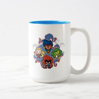 Kawaii Marvel Super Heroines Two-Tone Coffee Mug