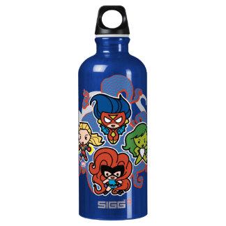 Kawaii Marvel Super Heroines Water Bottle