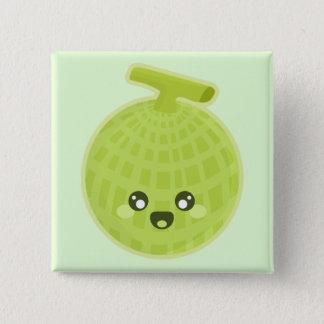 Kawaii Melon 2 Inch Square Button