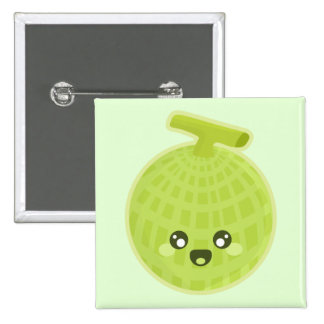 Kawaii Melon 2 Inch Square Button