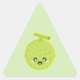 Kawaii Melon Triangle Sticker