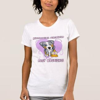 Kawaii Merle Australian Shepherd Rally Obedience T-Shirt