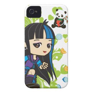 Kawaii Mika the Punk Girl Panda 4S/4 iPhone 4 Cover