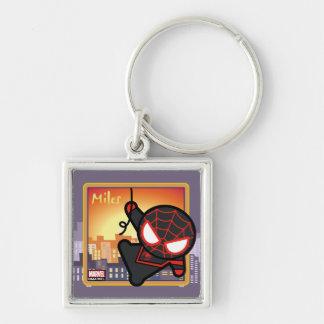 Kawaii Miles Morales City Sunset Keychain