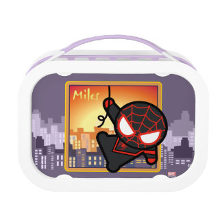 Kawaii Miles Morales City Sunset Lunch Box