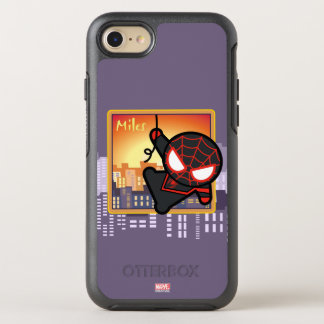 Kawaii Miles Morales City Sunset OtterBox Symmetry iPhone 8/7 Case