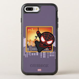 Kawaii Miles Morales City Sunset OtterBox Symmetry iPhone 8 Plus/7 Plus Case
