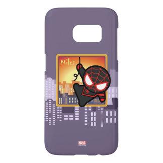 Kawaii Miles Morales City Sunset Samsung Galaxy S7 Case
