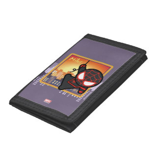 Kawaii Miles Morales City Sunset Tri-fold Wallet