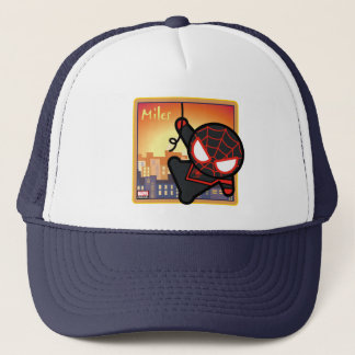 Kawaii Miles Morales City Sunset Trucker Hat