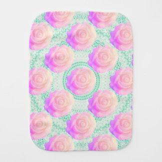 Kawaii Mint Beaded Decoden Cake Rose Pink Ombre Burp Cloths