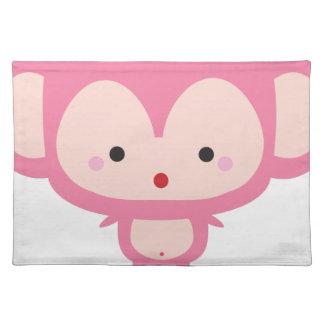 Kawaii monkey placemat