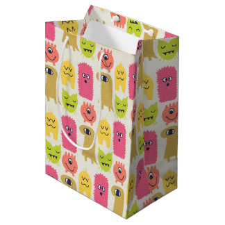 Kawaii Monster Birthday Gift Bag Medium