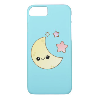 Kawaii Moon and Stars iPhone 7 Case