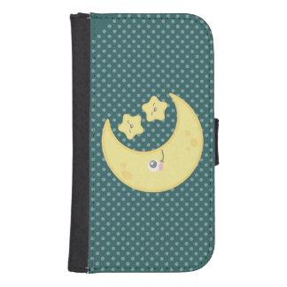Kawaii Moon and Stars Samsung Wallet Case Phone Wallet Cases
