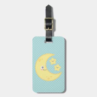 Kawaii Moon and Stars Travel Luggage Tags