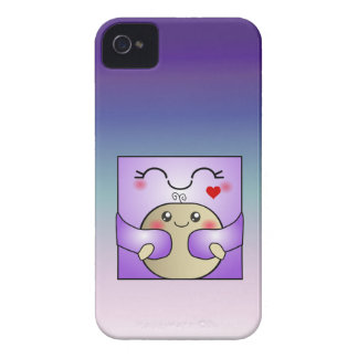 Kawaii Mother and Child Cute Hug iPhone 4 Case