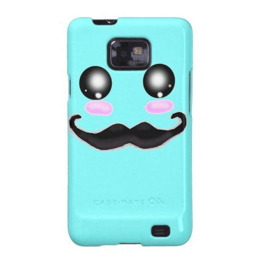Kawaii Mustache Galaxy SII Cover