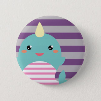 Kawaii Narwhal 2 Inch Round Button