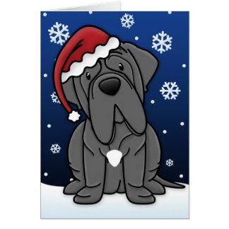 Kawaii Neapolitan Mastiff Christmas Card