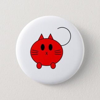 Kawaii Neko Linux Cat 2 Inch Round Button