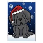 Kawaii Newfoundland Christmas Card