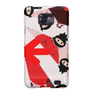 Kawaii Ninja Flipz Samsung Galaxy S Case Samsung Galaxy S2 Case