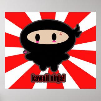 Kawaii Ninja Poster