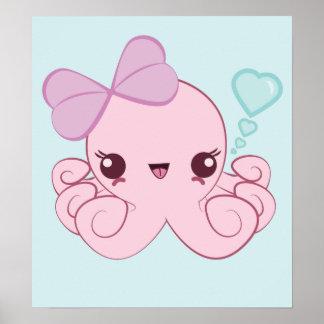 Kawaii Octopus Poster