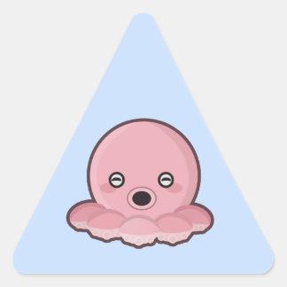 Kawaii Octopus Triangle Sticker