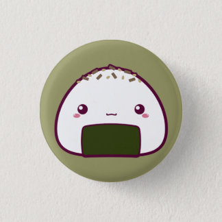 Kawaii Onigiri 1 Inch Round Button