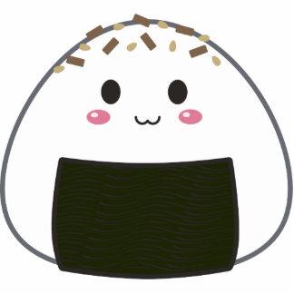 "Kawaii ""Onigiri"" Rice Ball with Toppings Photo Sculpture Keychain"