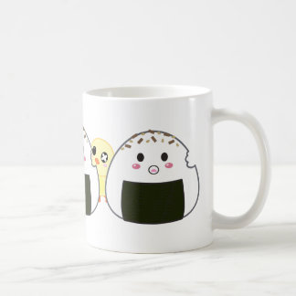 "Kawaii ""Onigiri"" Rice Balls Classic White Coffee Mug"