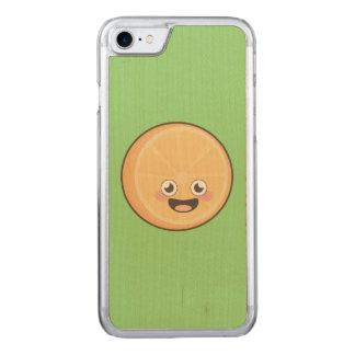 Kawaii Orange Carved iPhone 7 Case