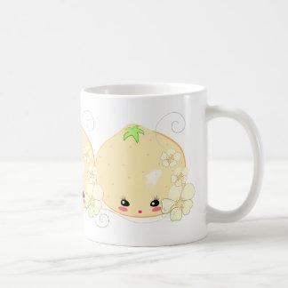 Kawaii Orange Basic White Mug