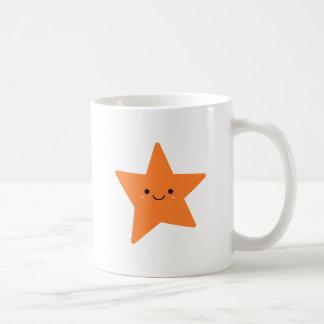 Kawaii Orange Star Coffee Mug