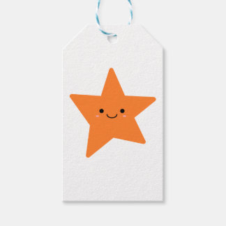 Kawaii Orange Star Gift Tags