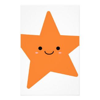 Kawaii Orange Star Stationery